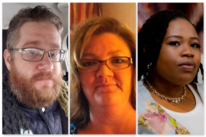 Candidates for Rockford School Board subdistrict G are (from left) Roger Smith, June Stanford and Ashley Williams.