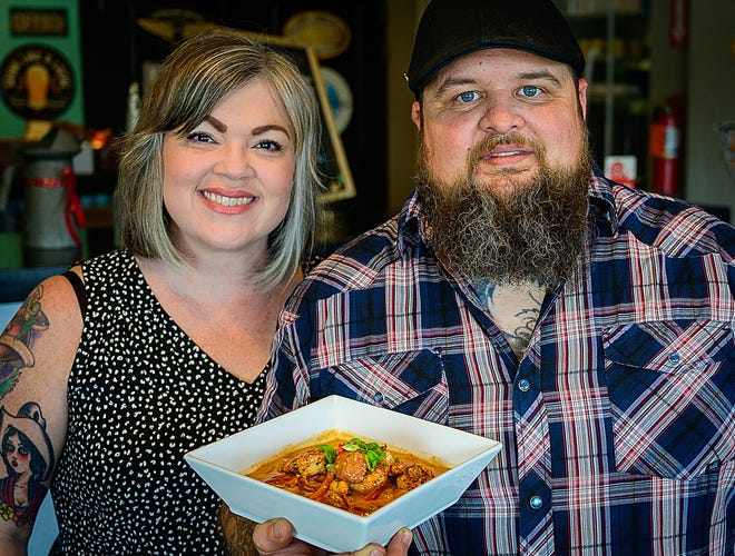 Lindy and Ben Loose own the Gas Full Service Restaurant in St. Augustine.