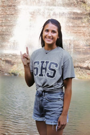 Kayla Casteel, of Shawnee, is one of April's Students of the Month.