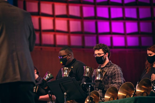 Oklahoma Baptist University held its annual Holy Week Chapel Wednesday, March 31, in Raley Chapel's Potter Auditorium. Students and faculty presented musical selections, scripture readings and more, as a worshipful observance of Holy Week leading up to Good Friday and Easter.
