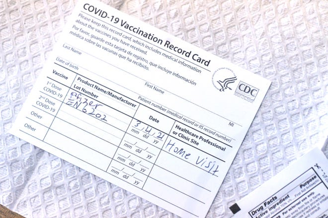 Residents and some workers at AHEPA 408 Senior Apartments, in Wilmington, N.C., received the first of two COVID-19 vaccinations March 4, 2021.