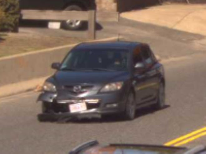 Worcester police were searching for this vehicle after a hit-and-run crash on Shrewsbury Street involving a motorcycle Tuesday afternoon.