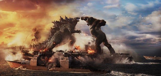"Godzilla and King Kong are about to do battle in ""Godzilla vs. King Kong."""