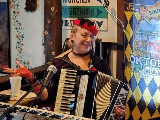Angela Woodhull, a private investigator, spent years fighting her mother's court-appointed guardian, Rebecca Fierle-Santoian. Now Woodhull spends her time performing as Angelina the Polka Queen. (Photo courtesy of Angela Woodhull)