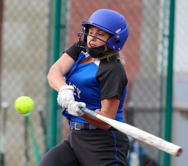 """Sophomore first baseman Quinn McDermott is one of the key players for the Bexley softball team, which has only two players with varsity experience. """"I'm really upset we didn't get to play last season because we'd put in so much work in the offseason,"""" coach Jess Sciacca said."""
