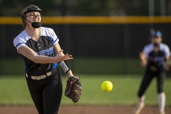 Senior Kendall Timms is the top pitcher for Kilbourne, which has only 11 varsity players this spring. Coach David Trout said it will be important for the Wolves that Timms and her backup, sophomore Meena Lee, stay healthy.