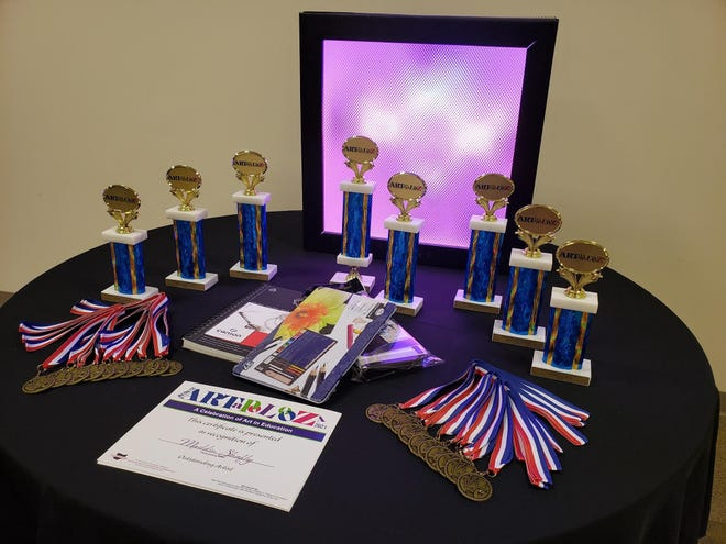 Trophies, medals and certificates were handed out during the Artapolooza 2021, sponsored by the Mid-Ohio Educational Service Center.