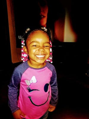 Shareese Lattimore, 7, was killed after being struck by a vehicle on Vine Street near Ehrman Street on Tuesday.
