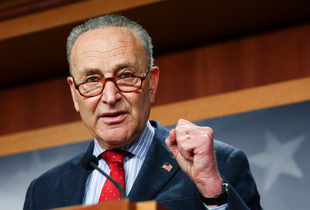 Schumer calls on Trump's former AGs to testify about data seizures 2