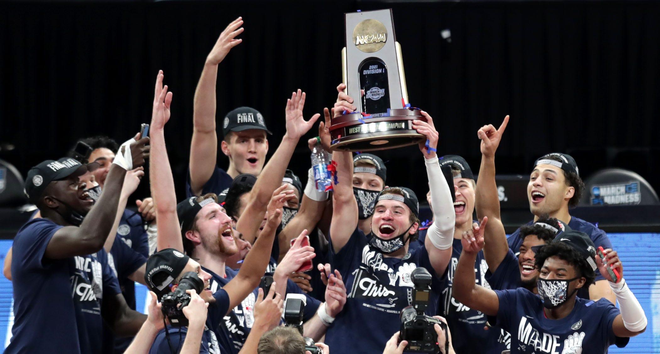 Matthew Lang Gonzaga Bulldogs Final Four Basketball Jersey - White