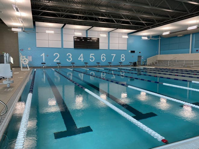 An eight-lane pool is part of the new Wauwatosa Aquatic Center at Wauwatosa East High School.