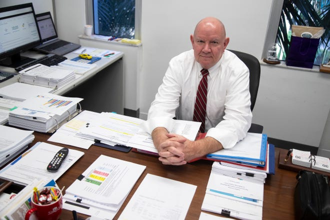 Mark Isackson was selected in March to be the next Collier County manager.