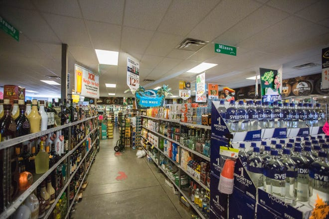 New Mexico's Legislature passed several liquor law changes in 2021 affecting any establishment that sells beer, wine or spirits, like Kelly Liquors in Las Cruces, pictured here on Wednesday, March 31, 2021.