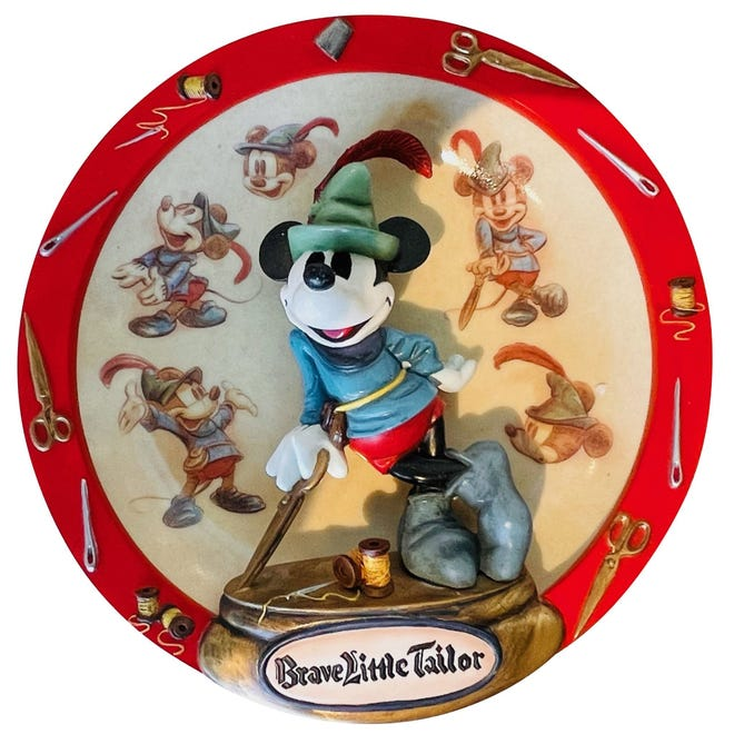 Three-dimensional plates like this were big with collectors in the 1990s.