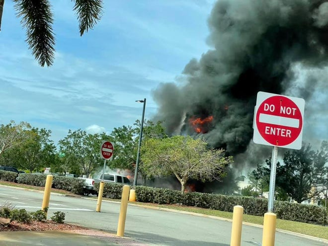 Fire in garbage truck March 31, 2021, spreads to other vehicles