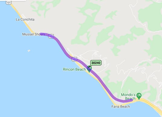 Caltrans plans to repave this 4.3-mile stretch of Highway 101 north of Ventura starting in late April and continuing through winter 2023 – 2024. Motorists can expect delays in both directions.
