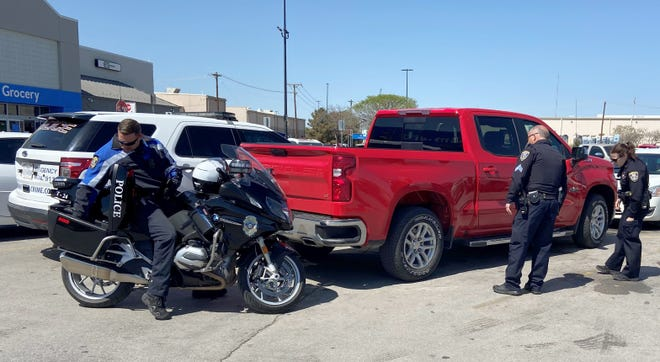 Wichita Falls police located a pickup truck reportedly stolen by an escaped inmate from Oklahoma in the parking lot of the Walmart on Lawrence Road Tuesday afternoon. Officer worked to assist Oklahoma law enforcement on tracking down who the vehicle belongs to.