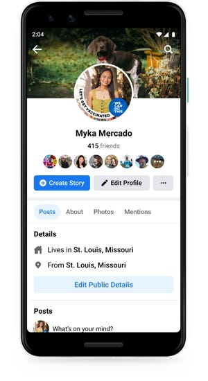 Facebook launches COVID-19 vaccination profile frames