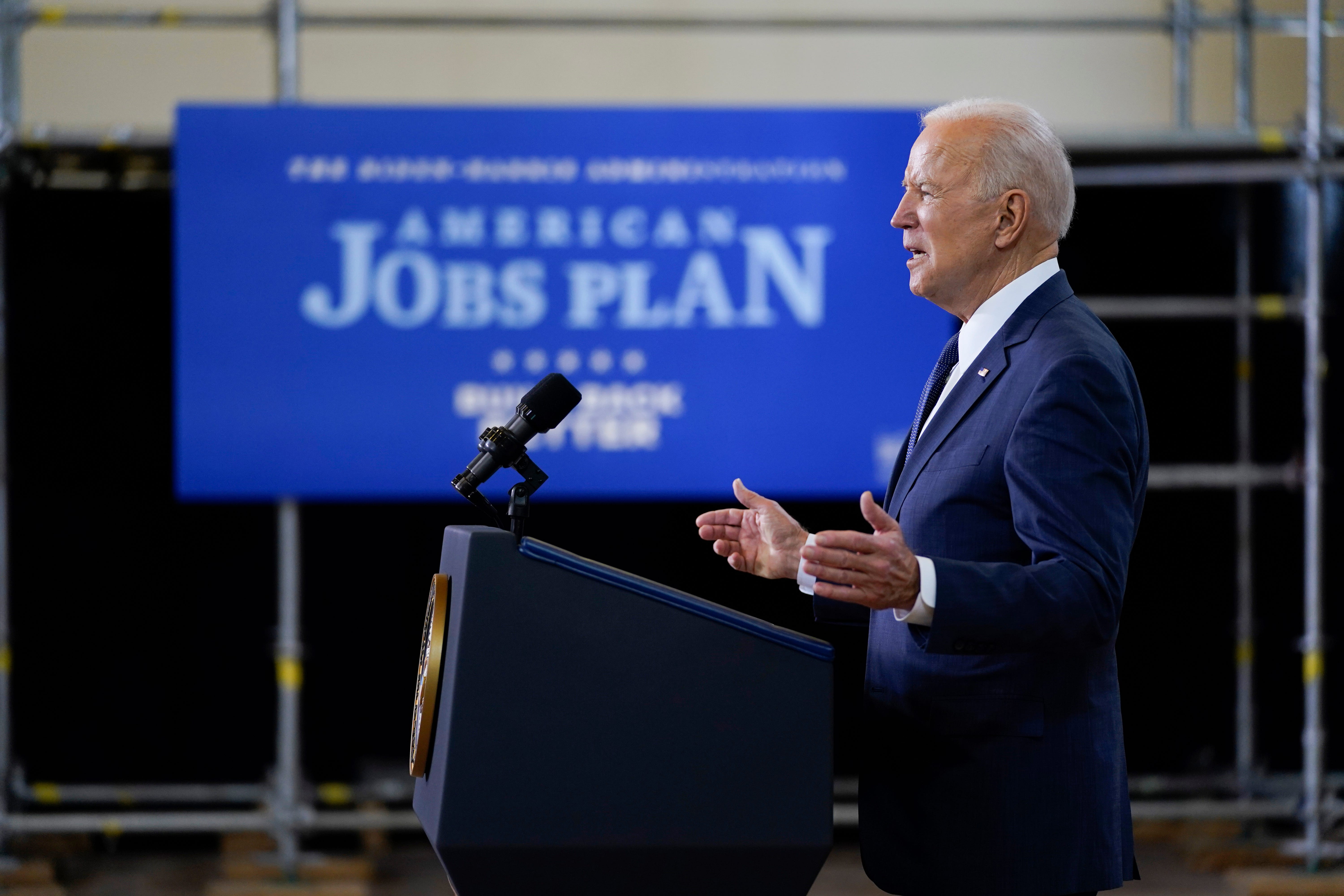 We can t delay : Biden proposes $2 trillion infrastructure, jobs plan funded by corporate tax hike
