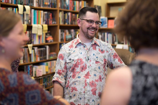 Danny Caine at The Raven Book Store in Lawrence, Kan.