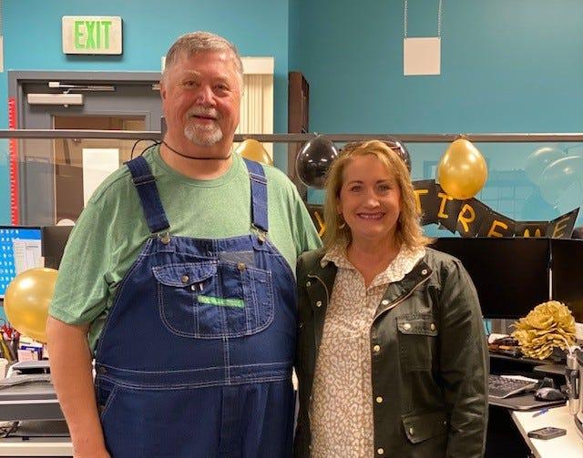 James Hallford, (left) retiree and Rhonda Skipper, Walton County Tax Collector.