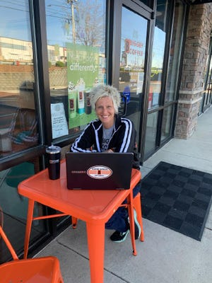 Jodi Nye is training at the Biggby Coffee location in Burlington in preparation to open the second location in North Carolina in Davidson County by the end of August.