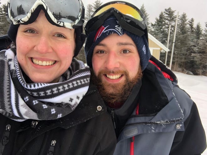 """Ashley Shunk, who died in 2019, with her boyfriend Christopher Wadleigh, who has been sentenced to prison for the crash that took Ashley's life. Shunk's mother has previously said Wadleigh was the """"love of her life."""""""