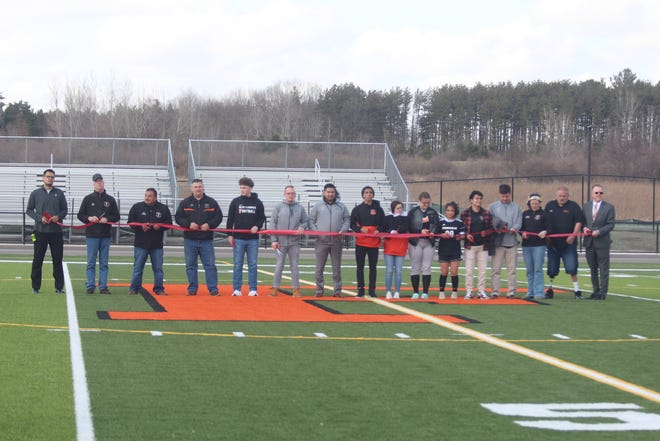 Students and administrators at Fennville High School cut the ribbon on the renovated athletic facilities and the girls soccer team got its first win of the season on Wednesday, March 31.