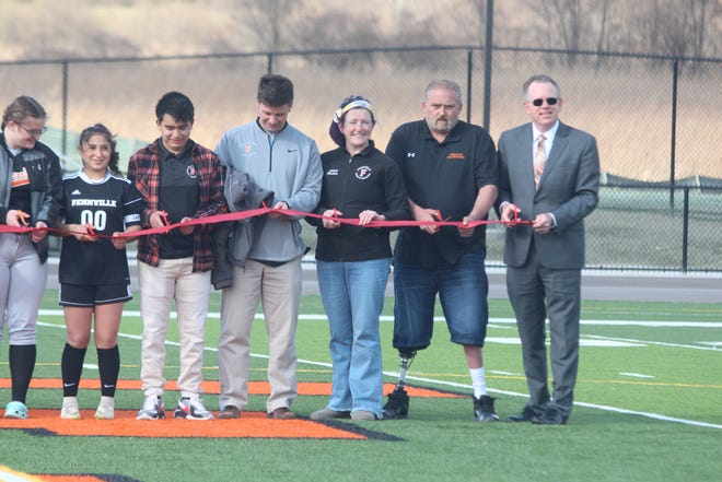 Fennville high school cut the ribbon on renovated athletic facilities and their girls soccer team got their first win of the season on Wednesday, March 31, 2021