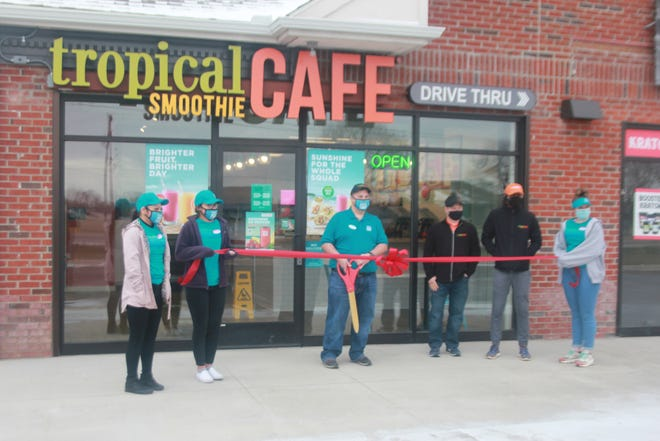 Tropical Smoothie Cafe, 3153 Commerce Lane, in Ionia, opened Thursday, April 1.