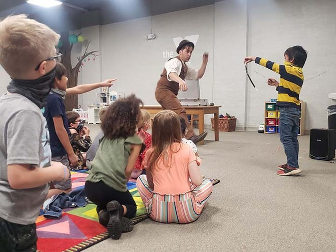 New River YMCA recently hosted No Sleeves Magic for its Milestones Academy Intercession Camp. The Magic Campers participated in inventive activities along with vivid performances.