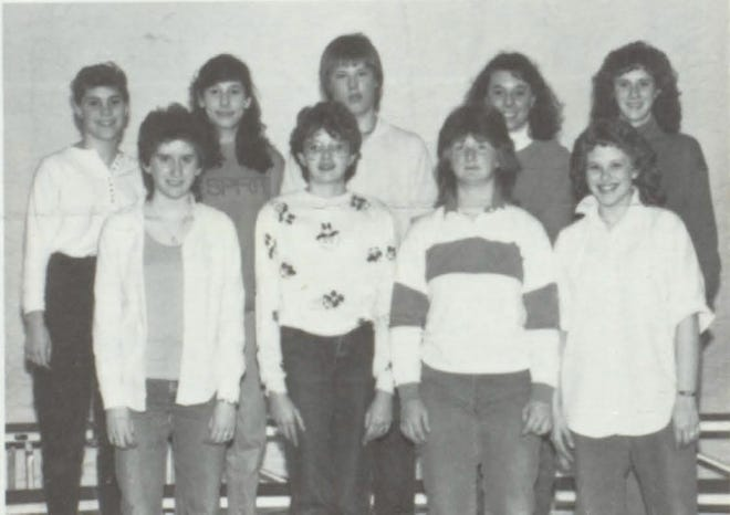 Pictures of the Past is from the 1987 Lincoln Community High School yearbook. It shows members of the Library Aides: S. Vanouver, S. Bacon, J. Schriber, M. Neal, B. Mara, K. Price, T. Welch, S. Marcotte and A. Davis.