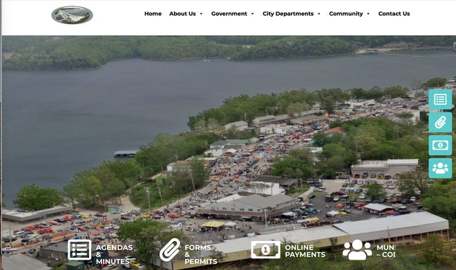 A look at the new cityoflakeozark.net homepage.