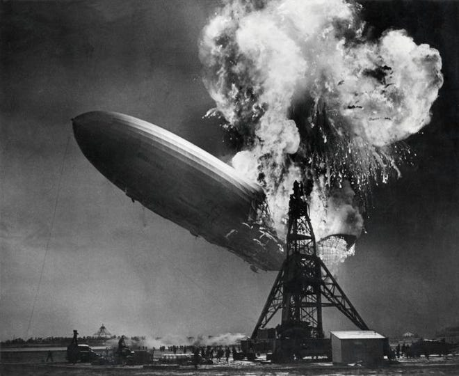 The Hindenburg exploded in New Jersey in 1937. Nine months before, Lloyd Knapp, a Monroe resident, flew on the Hindenburg to the Olympics.