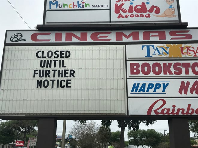 The movie theater on Silver Springs Boulevard in Ocala is closed, and the landlord has filed suit for payment of back rent.