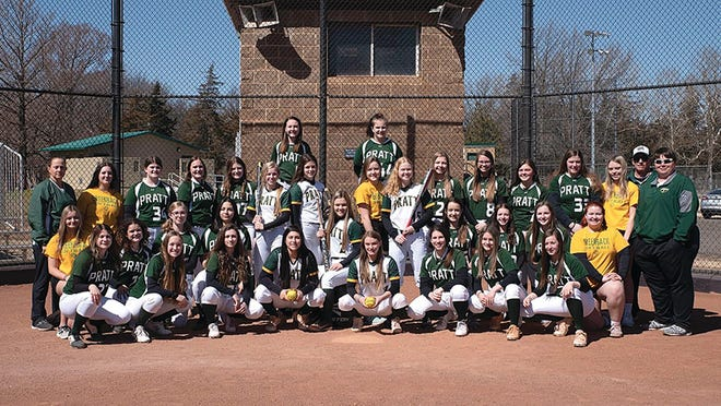 Members of the Pratt High School softball team are happy to be playing ball in 2021 as their season begins with a win and a loss in opener. They played Kingman last Friday showing great things, according to Coach Mike Forshee.