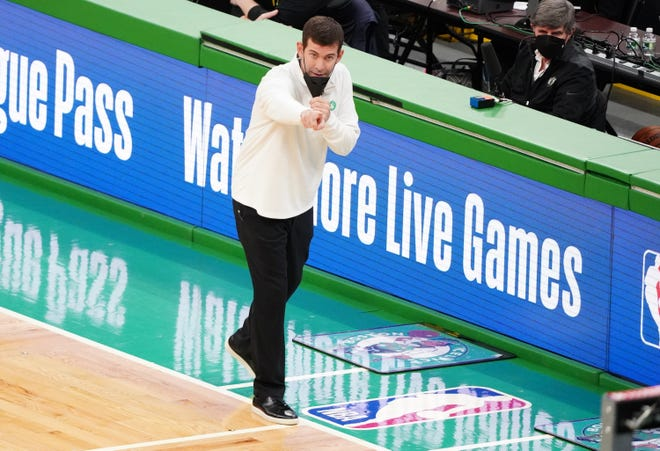 Celtics head coach Brad Stevens watches from the sideline as Boston hosts the Dallas Mavericks on Wednesday night.