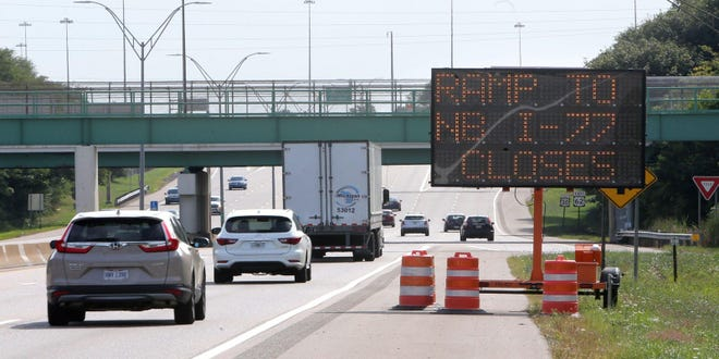 The Ohio Department of Transportation says the interstate will be closedat U.S. Route 30 between 9p.m. Friday and 8 a.m. Saturdayfor pavement repairs.