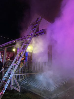 The Rockford Fire Department battled a house fire at 2638 Hanson St. in Rockford on Thursday, April 1, 2021.