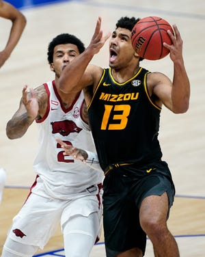 Former Missouri guard Mark Smith (13) has signed with Kansas State as a graduate transfer for the 2021-22 season.