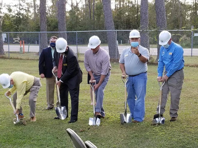 Groundbreaking ceremony for N.C. 133 multi-use paths.