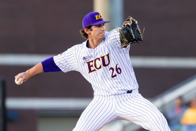 Gavin Williams finished with a career-high 13 strikeouts against Cincinnati on Friday night. (Courtesy of ECU athletics)