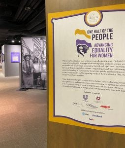 Cape Fear Museum of History and Science  opens traveling exhibition exploring women's fight for equality.