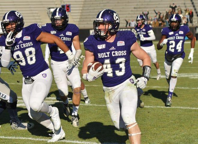 Holy Cross linebacker Jacob Dobbs chose Holy Cross over Michigan.