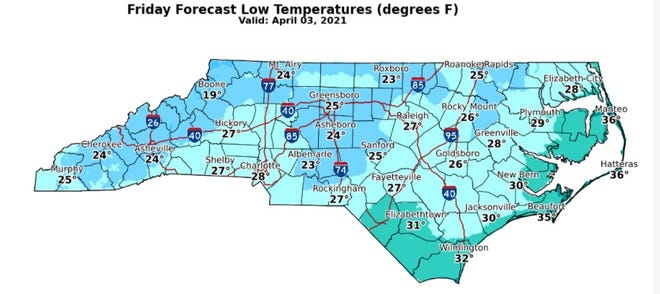 The National Weather Service has issued a Freeze Warning for Fayetteville for the next two nights, with a Freeze Watch for the southern region. [Contributed photo]