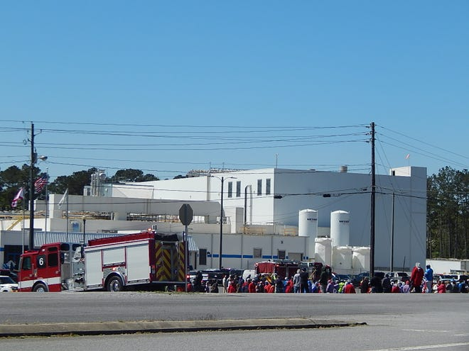 Employees at Koch Foods on Paden Road in Gadsden were evacuated for a short time Thursday after an ammonia release at the plant.