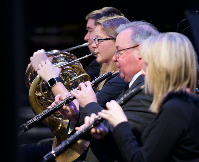 Gadsden Symphony Orchestra members are shown during a 2017 concert. The GSO kicks off its 2020-21 season with an outdoor concert on April 11.