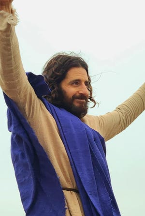 "Jonathan Roumie portrays Jesus in ""The Chosen."""