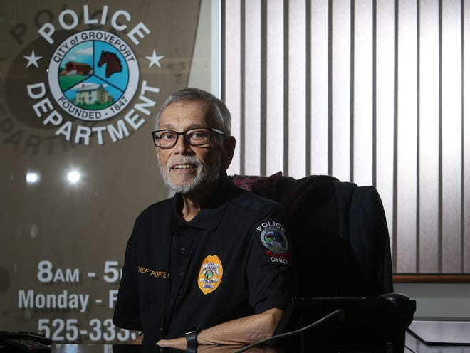 Ralph Portier will retire April 28 as Groveport police chief. Portier, who is the department's fifth chief, was hired in 2009.