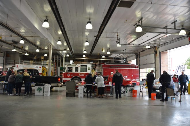 Volunteers are shown working during the 2018 Operation Medicine Drop. The 2021 event is planned for 10 a.m. to 2 p.m. April 24 at the Jackson Township fire station, 3650 Hoover Road.